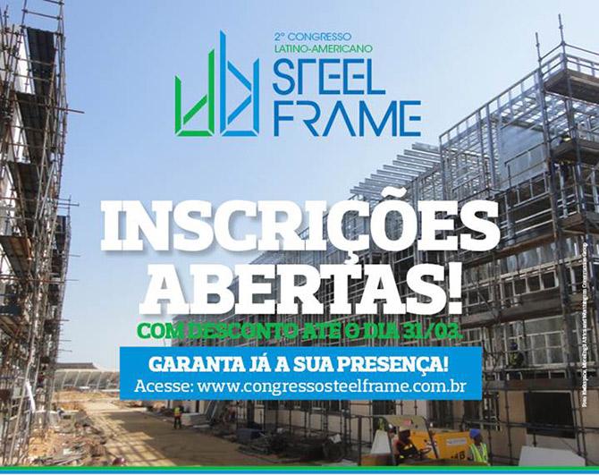2º Congresso Latino-Americano Steel Frame | Inscrições abertas