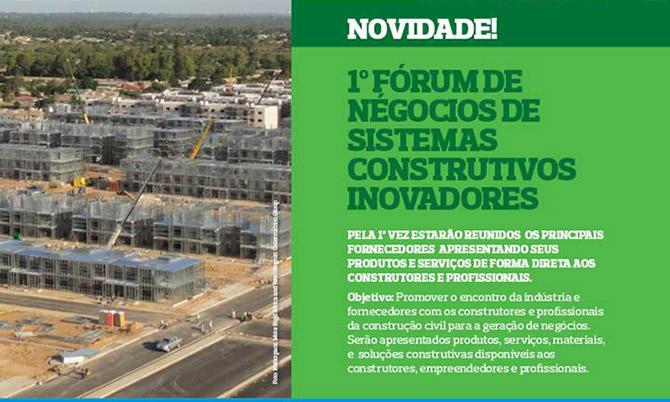 Novidade | 1º Fórum de Negócios de Sistemas Construtivos Inovadores