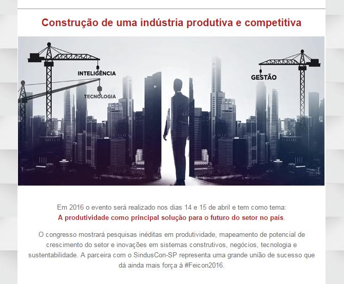 Construção de uma indústria produtiva e competitiva